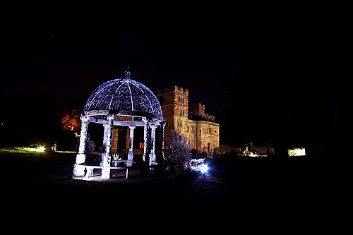 The wedding gazebo at dalston Hall - image from Derwent Photography